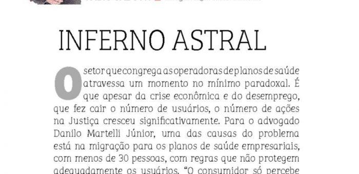 Danilo Martelli Junior e o aumento no número de ações contra os planos de saúde.
